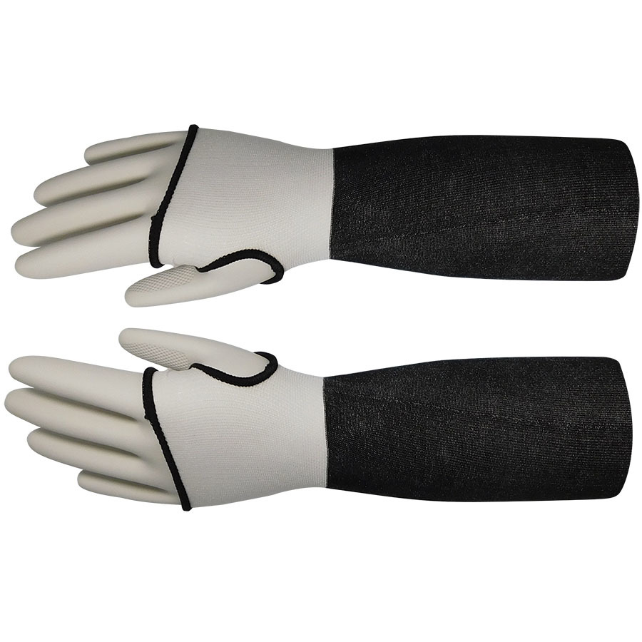 18in Gray HDPE Sleeve With Thumb Hole, ANSI A3