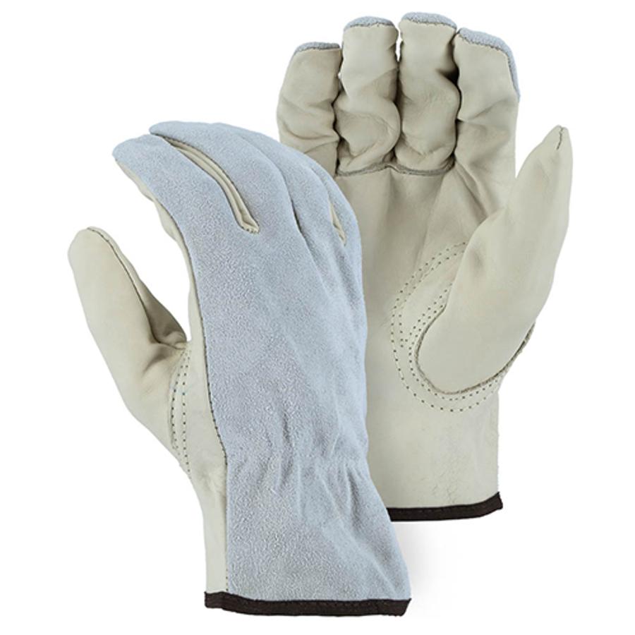 1533GS Goatskin Pam and Split Cowhide Back Drivers Glove