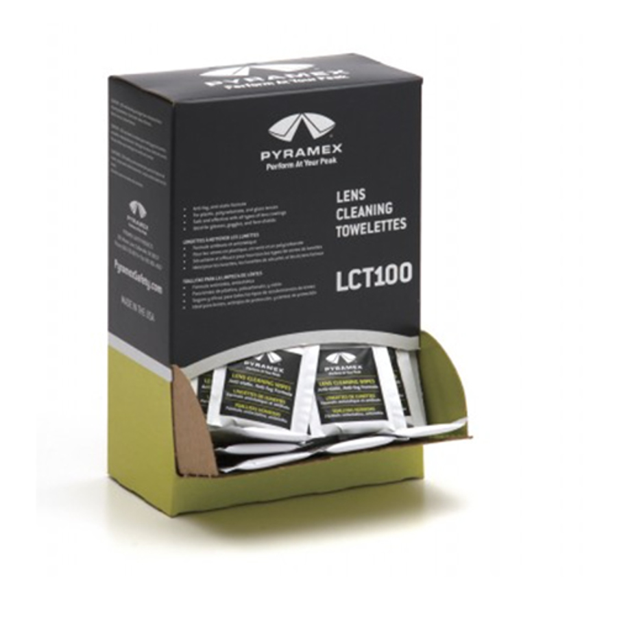100 Individually packaged Lens Cleaning Towelettes