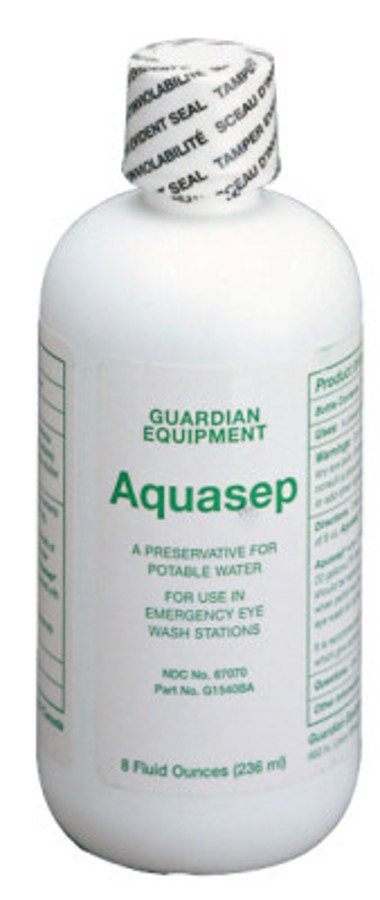 AquaGuard Gravity-Flow Eye Wash Refill, 8 oz, Bacteriostatic Additive