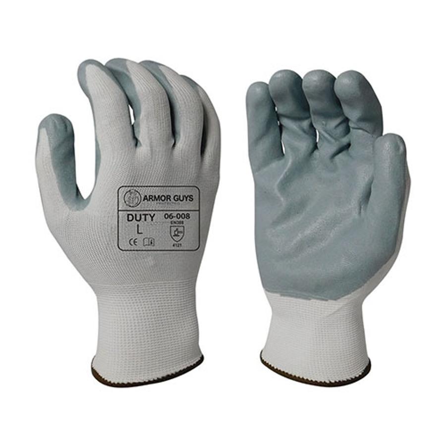 Armor Guys, Gray Foam Nitrile Palm Coating, 13 Ga, 06-008