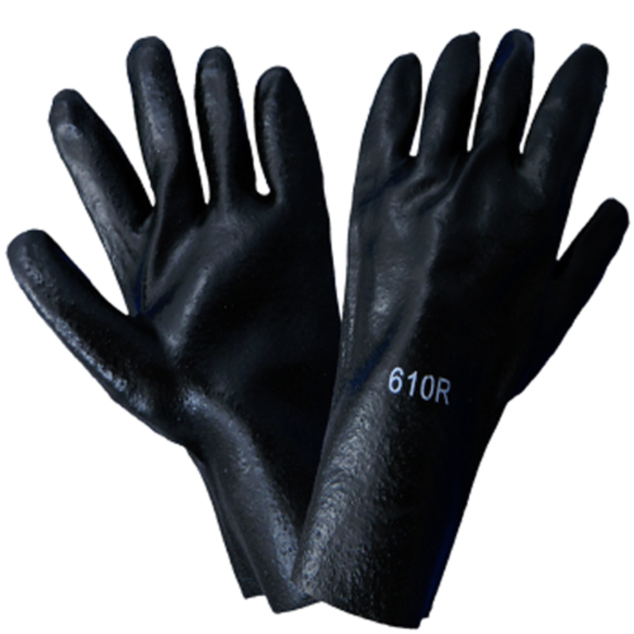 610R- Chemical Resistant Supported Neoprene, PVC and Nitrile Glove