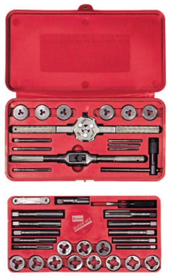 39 Piece Machine Screw / Fractional Tap & Solid Round Die Set