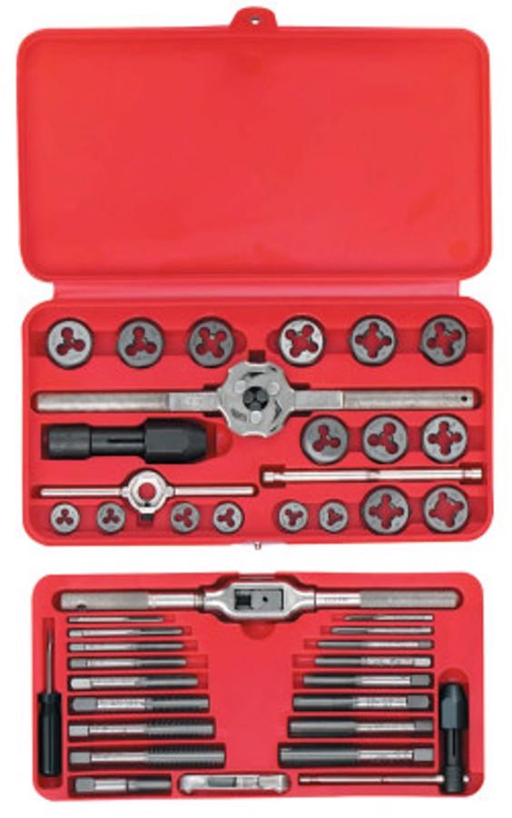 41 Piece Machine Screw/Fractional Tap and Hex Die Set