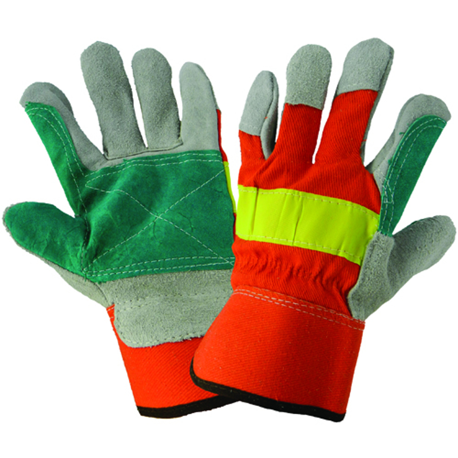 2300HVDP-9(L)- Leather Palm. Double Palm Glove