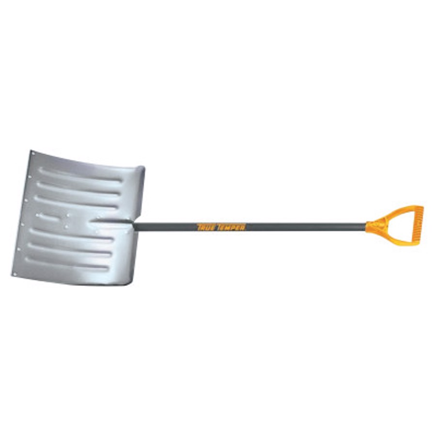 Arctic Blast Snow Pusher, 14 1/2 in X 18 in Blade, Wood Poly D-Grip Handle