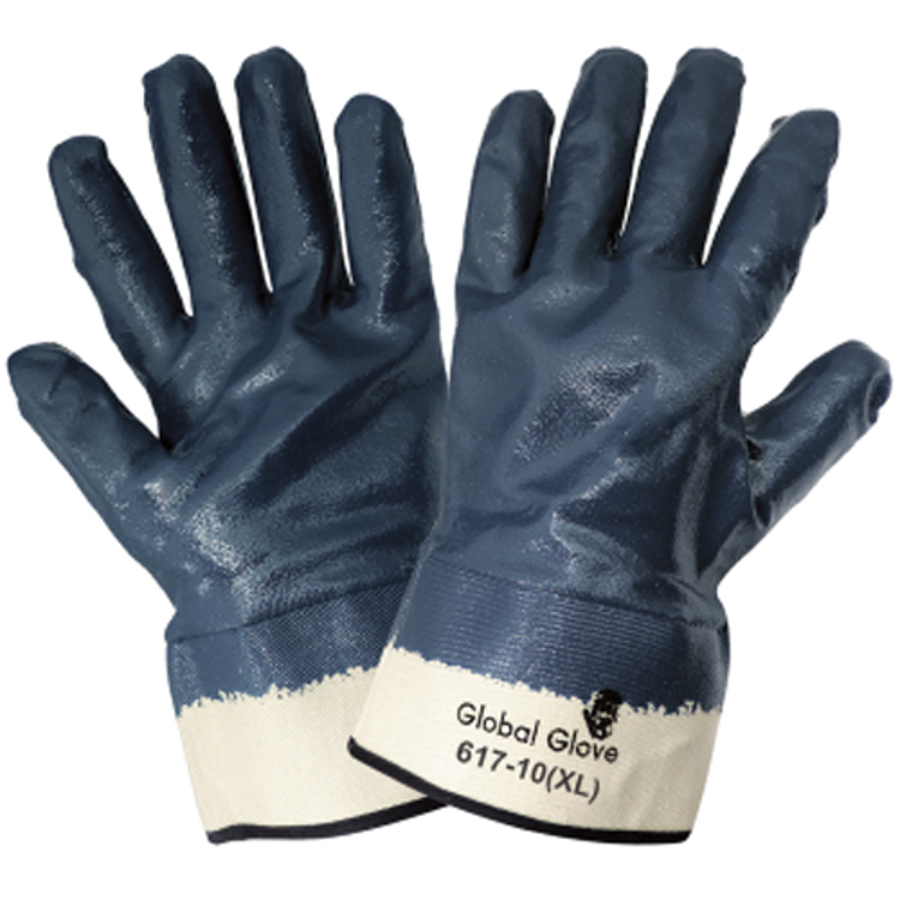 617-10(XL)- General Purpose Work, Nitrile Diped Gloves