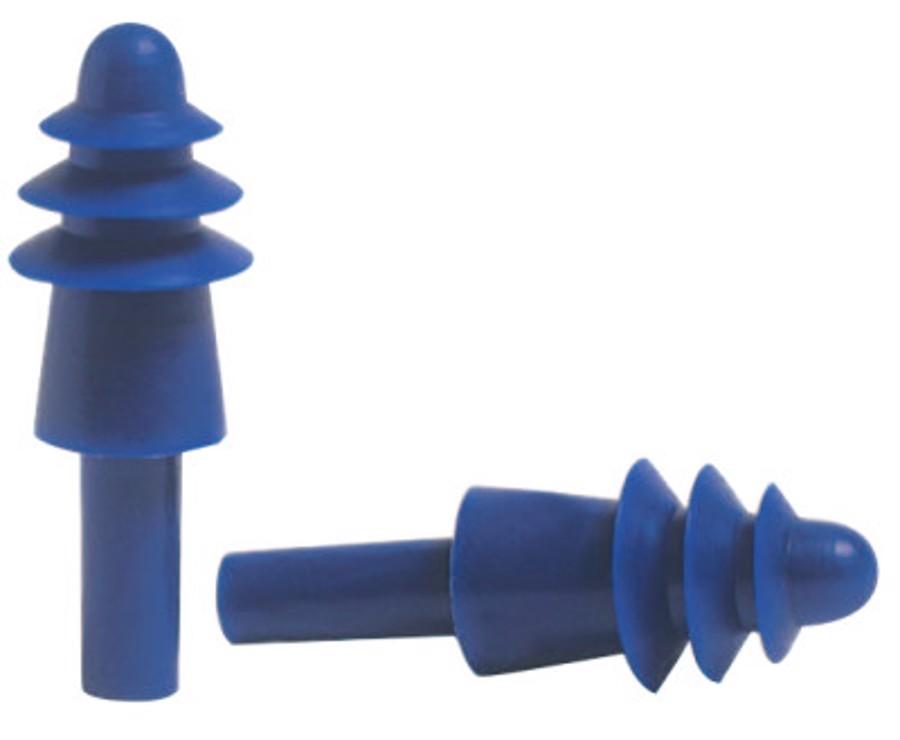 AirSoft Reusable Earplug DPAS30R, Thermoplastic Elastomer, Blue, Corded