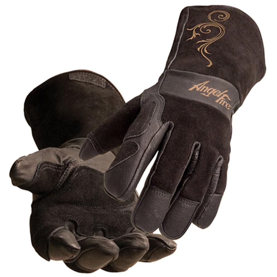 AngelFire Women's Stick Gloves, LS50, Brown