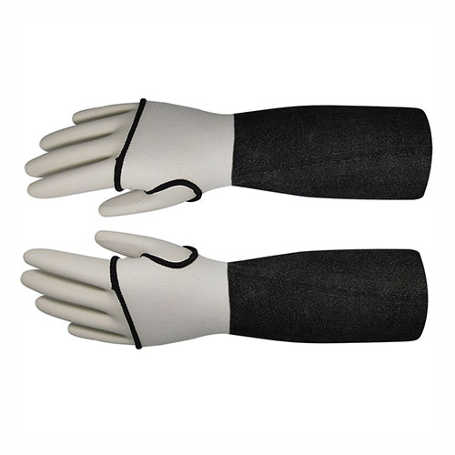 20in Gray HDPE Sleeve With Thumb Hole, ANSI A3