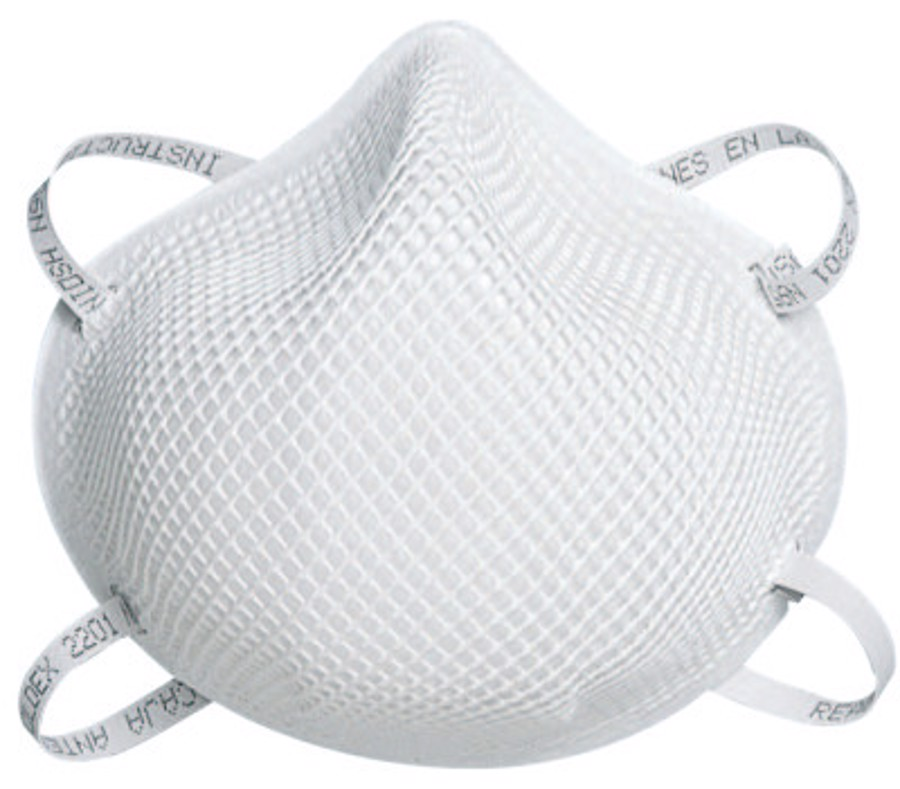 2200 Series N95 Particulate Respirators, Half-facepiece, Non-Oil Use, Sm