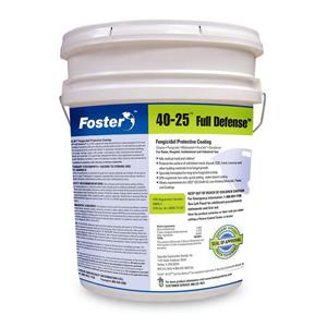 40-25 Full Defense Fungicidal Protective Coating, White, 5 Gal