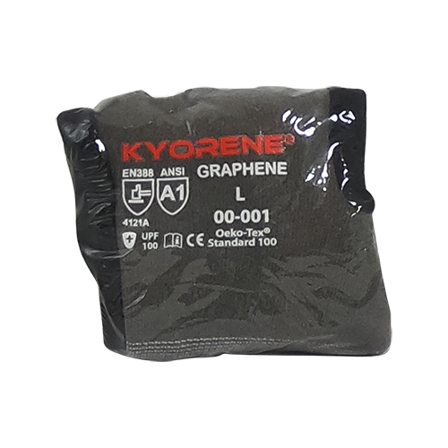 15g Gray Kyorene Liner With Black HCT Micro Foam Nitrile Palm Coating, Vend Packed, X-Small