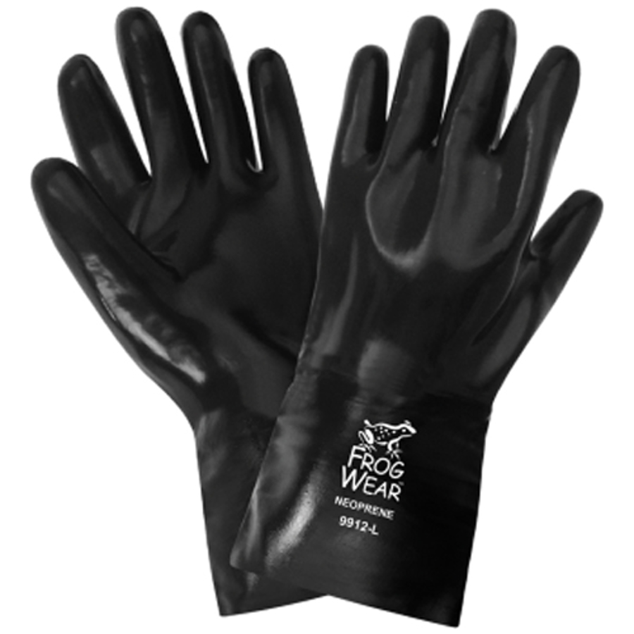 9912- FrogWear, Chemical Resistant, PVC and Nitrile, Neoprene Supported Glove