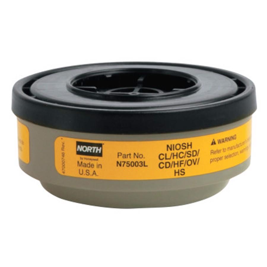 Acid Gas Cartridge for N Series, Cartridge/Filter, Yellow