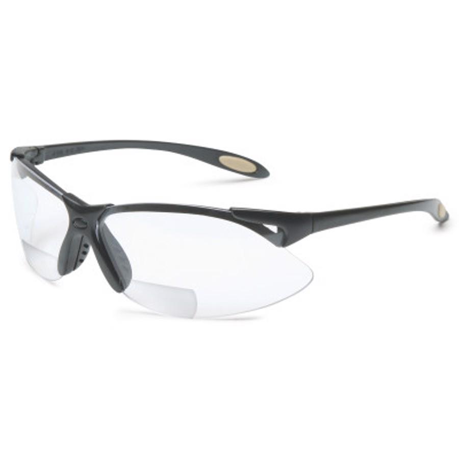 A900 Reader Magnifier Eyewear, +2.0 Diopter Polycarb Hard Coat Lenses, Black Frame