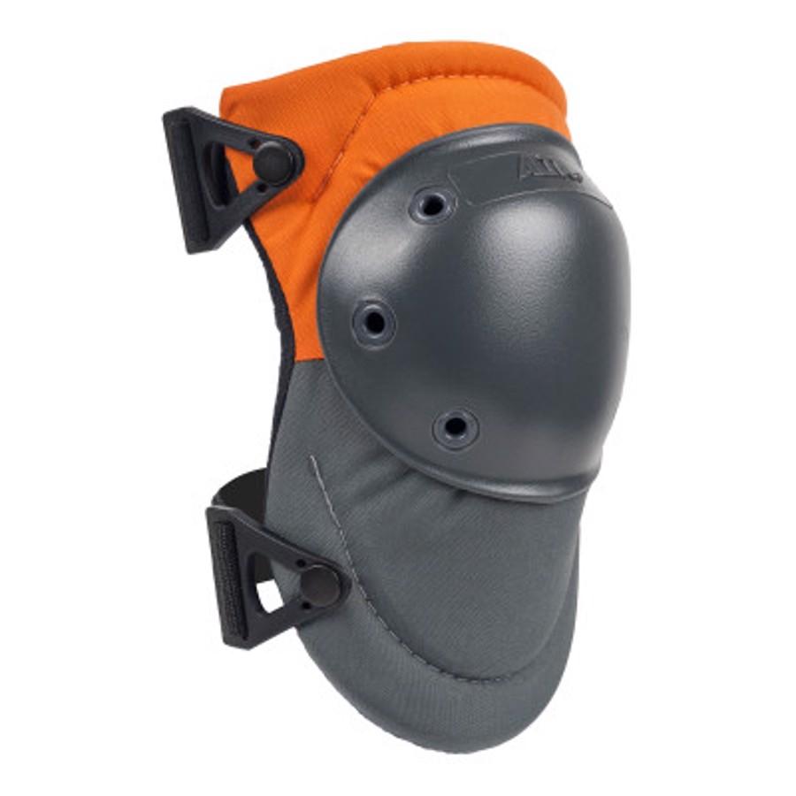 AltaPRO AltaLOK Hard Cap Industrial Knee Pads, Hook and Loop, Orange/Gray