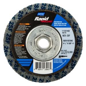 Rapid Finish Bear-Tex Unified Wheels, 4 1/2 X 5/8-11, Fine, Silicon Carbide