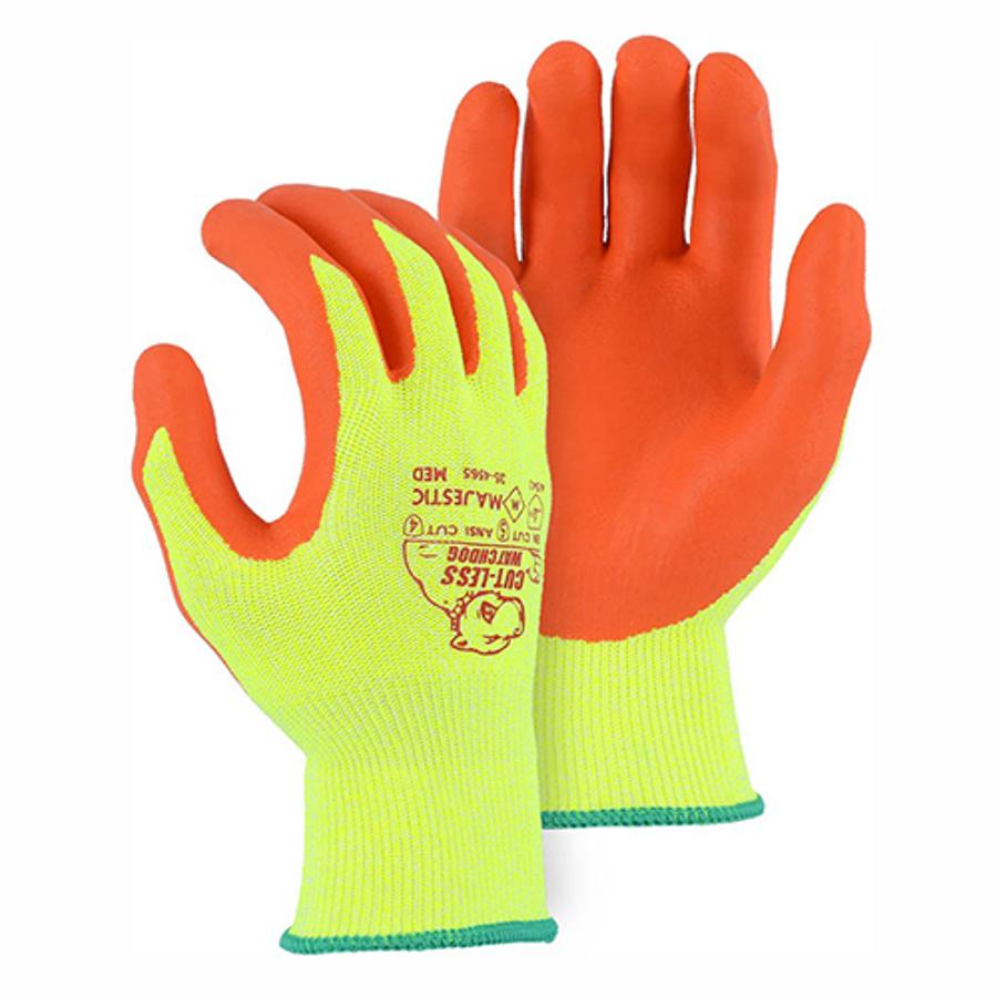 35-4565 Cut-Less Watchdog Hi-Vis Knit w Foam Nitrile Palm