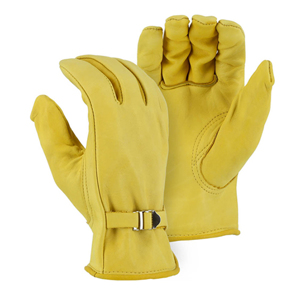 1509 Cowhide Drivers Glove with Wrist Strap
