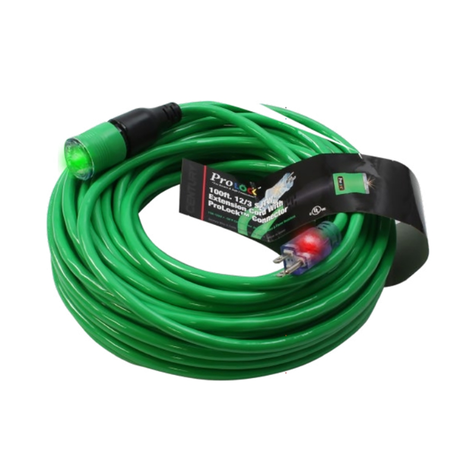 12/3 SJTW Extension Cord, D14412050GN, 50 ft, Green