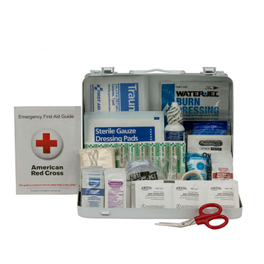 25 Person First Aid Kit ANSI A, Metal Case