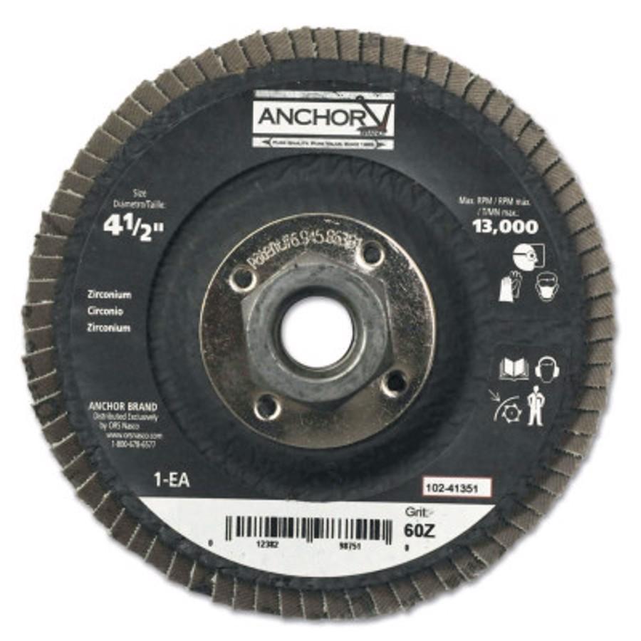 "Abrasive High Density Flap Discs, 4 1/2"", 5/8"" Arbor"