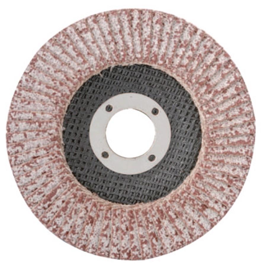 """Aluminum Reg T27 Flap Disc, 4-1/2"""" Diameter, 36 Grit, 7/8 Arbor, 13, 300 RPM"""