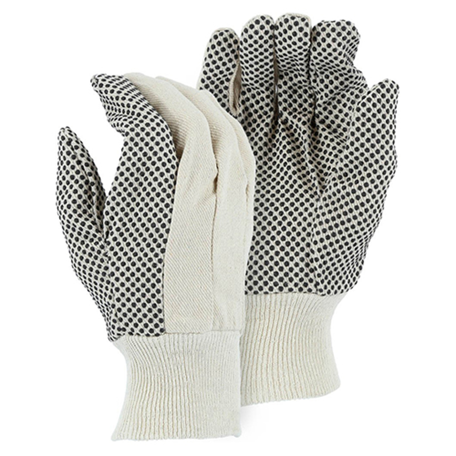 3405, 8-oz Canvas Glove with PVC Dots, Large
