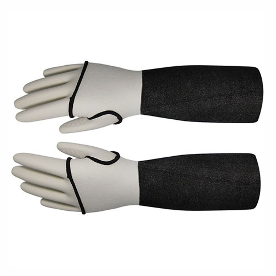 22in Gray HDPE Sleeve With Thumb Hole, ANSI A3