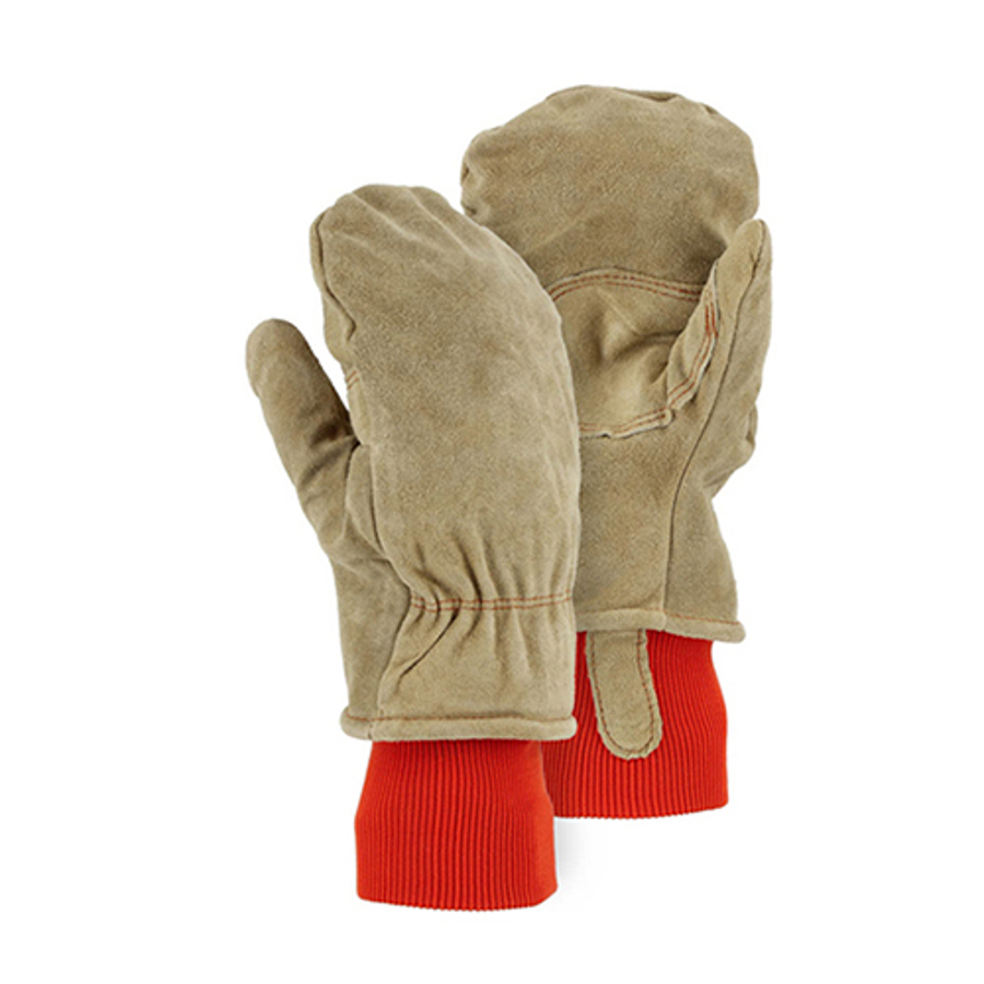 1636 Winter Lined Leather Freezer Mitten w/ Thick Insulation
