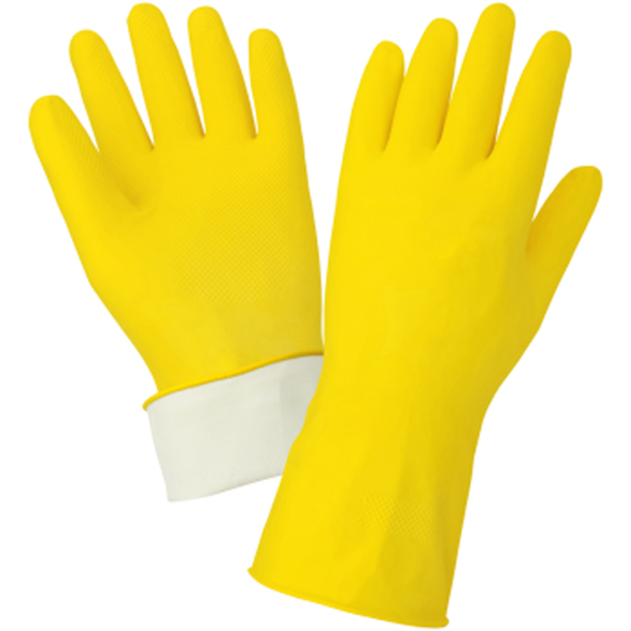 150FE Unsupported Flock-lined Latex Glove