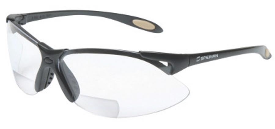 A900 Reader Magnifier Eyewear, +1.5 Diopter Polycarb Hard Coat Lenses, Black Frame