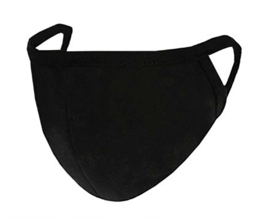 2-Layer Black Reusable Face Mask