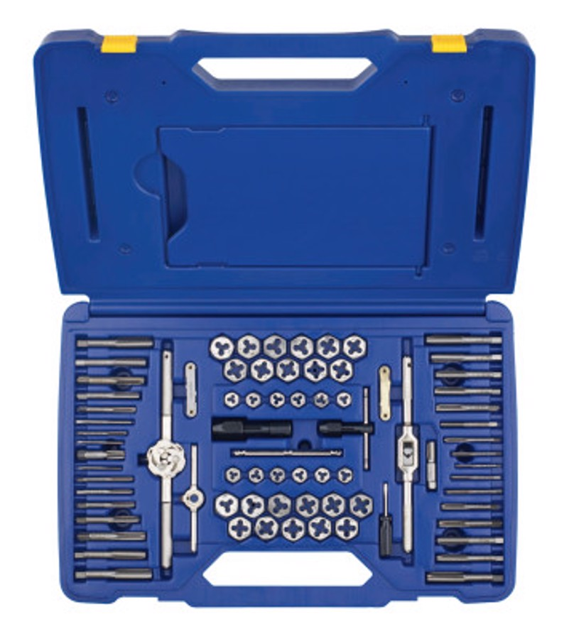 76 Piece Machine Screw / Fractional / Metric Tap & Hex Die Set