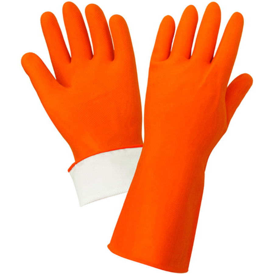 180F Unsupported Flock-lined Latex Glove