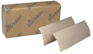 Envision Hand Towels, Hard Roll, Brown
