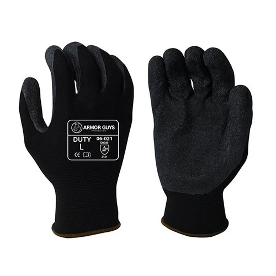 Armor Guys, Black Latex Crinkle Latex Palm Coating, 13 Ga, 06-021