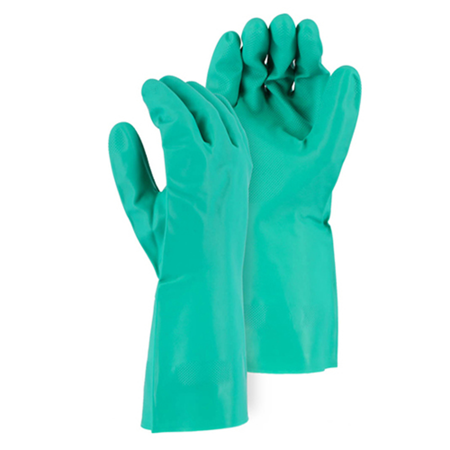 3247 15 MIL Unlined Nitrile 12 Glove with Diamond Pattern