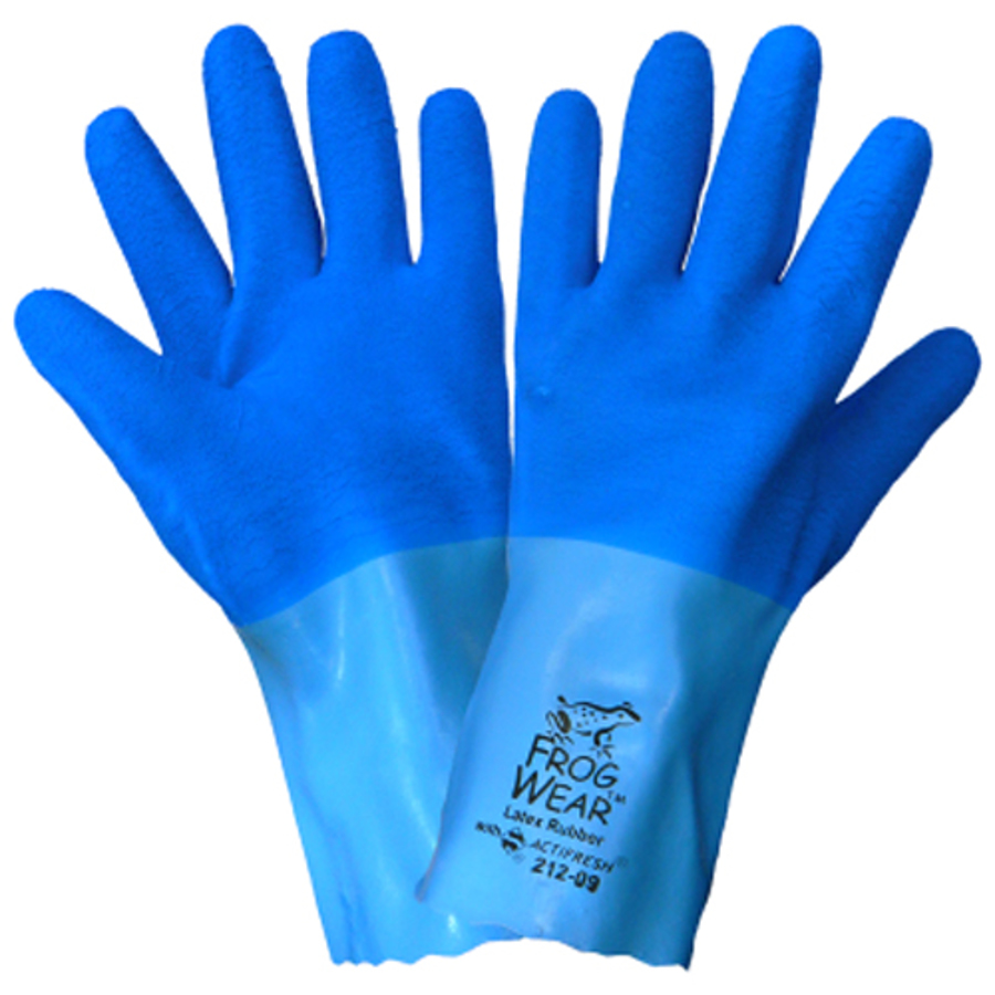 212 FrogWear, Supported Cotton Lined Rubber Gloves