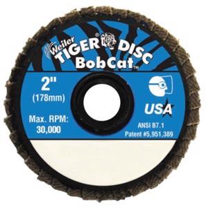 Bobcat Flat Style Flap Discs, 2 in, 60 Grit, 30, 000 RPM