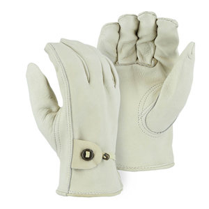 1509K Cowhide Drivers Glove with Ball and Tape Wrist Strap