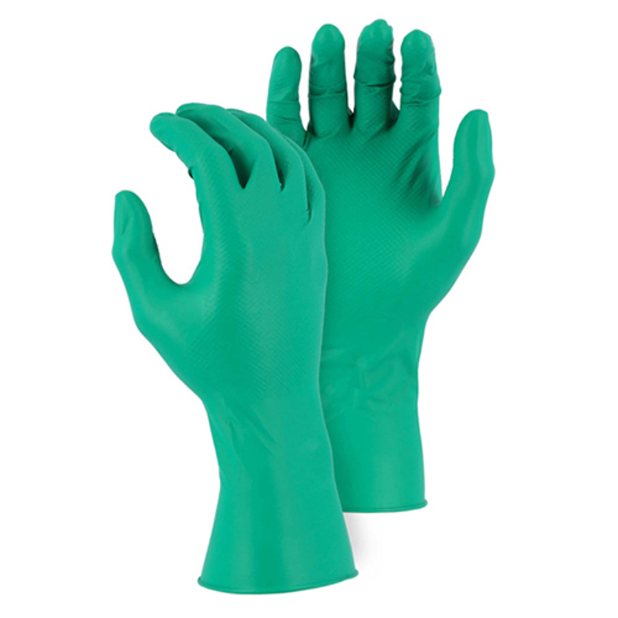 3X-Large, 3352AG Disposable Gloves with Embossed Fish Scale Pattern