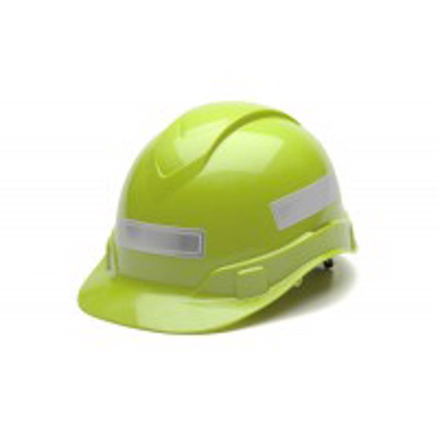 Adhesive reflective stripe for hard hats - White