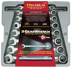 8 Piece Combination Ratcheting Wrench Sets, Inch