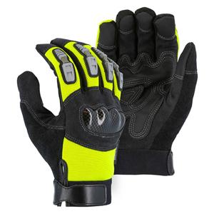 2123HVY Hi-Vis Yellow Knucklehead Heavyweight Mechanics Glove