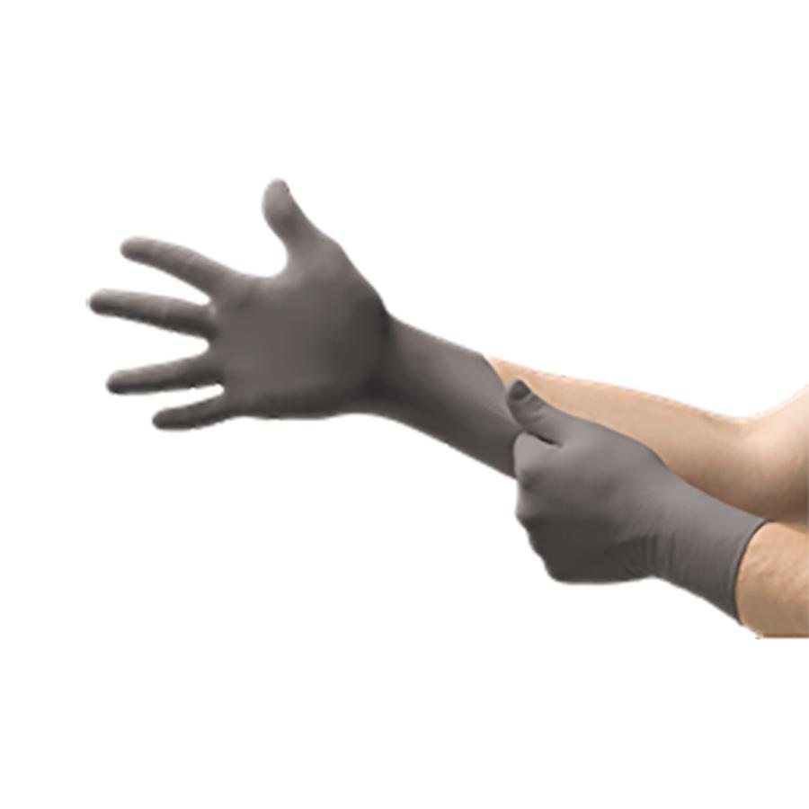 "93-250 Dark Grey Nitrile Gloves with Grip Technology, 4 Mil, 9-1/2"""