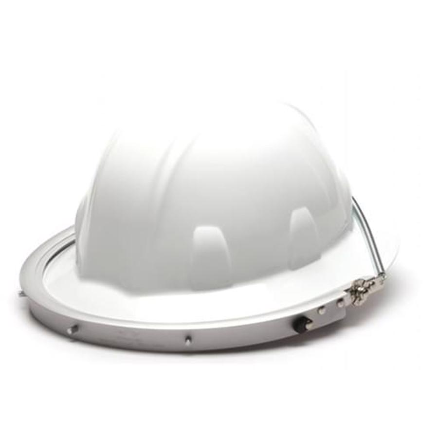 Aluminum Full Brim Hard Hat Adapter - Silver