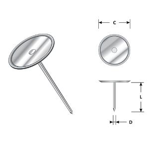 Mild Steel Minicup Pin