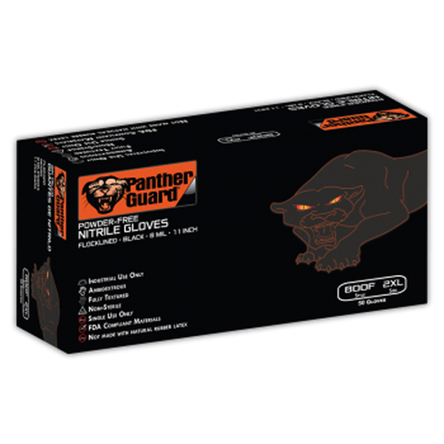 800F Panther-Guard, Disposables - Industrial Grade Flock-lined Nitrile Glove